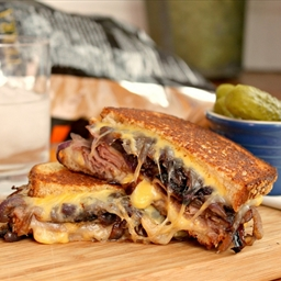 Grilled Cheese & Roast Beef Sandwiches