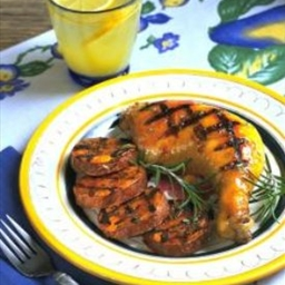 Grilled Chicken and Sweet Potatoes with Orange Glaze