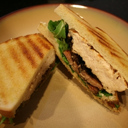 Grilled Chicken Sandwich with Pancetta, Arugula, and Aioli