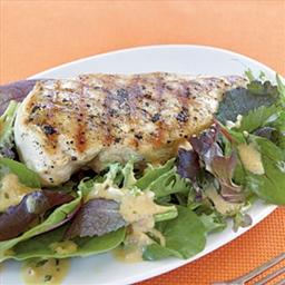 Grilled Chicken with Mustard-Tarragon Sauce