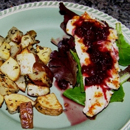 Grilled Chicken with Pinot-Plum Sauce