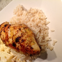 Grilled Chicken with Tarragon-Mustard Marinade