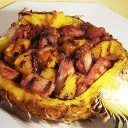 Grilled Hamapple (ham and Pineapple)