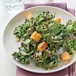 Grilled Kale Caesar Salad