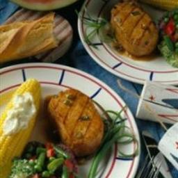 Grilled Pork Chops in Ginger Marinade