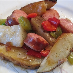 Grilled Sausage and Potato Packets