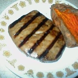Grilled Tuna Steak Teriyaki