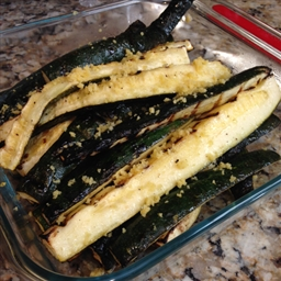 Grilled Zucchini with Lemon Salt