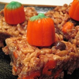 Halloween Crisp Candy Corn Treats