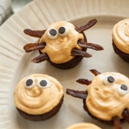 Halloween Googly-Eye and Spider Brownie Bites