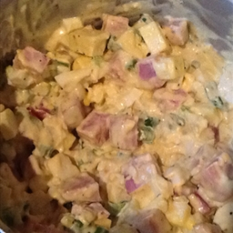 Ham Egg and Cheese Salad