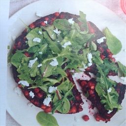 Harvest Vegetable (Beets) with greens and Goat Cheese