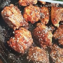 Haut de cuisse de poulet caramélisé