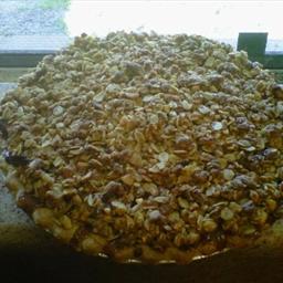 Hazelnut Apple Crumb Pie