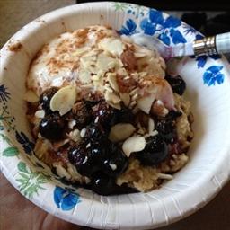 Healthy Blueberry Walnut Oatmeal Parfait
