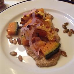 Heirloom Squash Salad with Pepita Puree