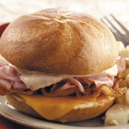 Hot Ham 'n' Cheese Sandwiches
