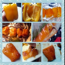 How to roast sweet bell peppers