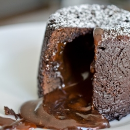 India-Chocolate Molton Lava Cake with Salted Caramel
