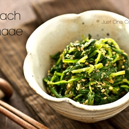 India-Spinach Gomaae (Spinach with Sesame Sauce)