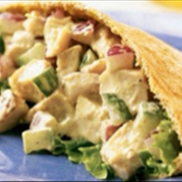 Indian Chicken Salad Pockets