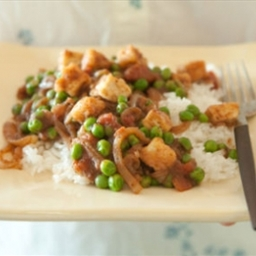Indian Spiced Peas with Tofu