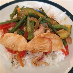 Indonesian Chicken with Green Beans 2