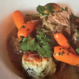 Irish Lamb Stew With Seaweed Dumplings & Glazed Carrots