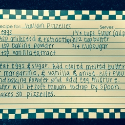 Italian Pizzelles