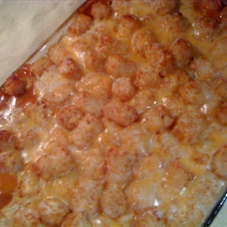 Jamison's spicy tater tot casserole