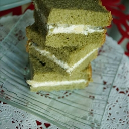 Japanese green tea loaf/ Three-cheese sandwich (eggless)