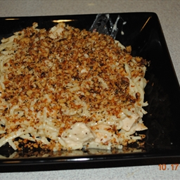Jodie's Chicken Carbonara with bread crumbs