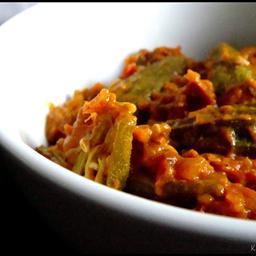Kadai Bhindi (Okra in gravy)