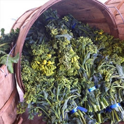 Kale Flowers with Lemon and Butter
