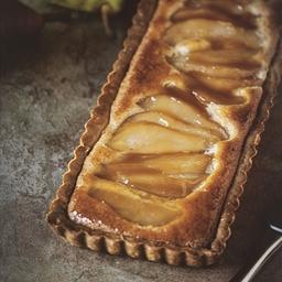 Whiskey Pear Tart