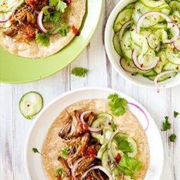 Korean Beef Tacos with Cucumber Slaw