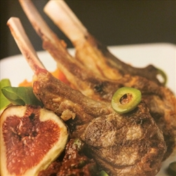 Lamb Chops with Figs and Olives