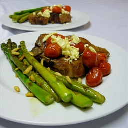 Lamb Chops with Tomato and Feta