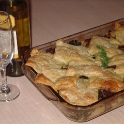 Lamb, Silverbeet and Potato Pie