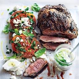 Lamb with tomato and feta