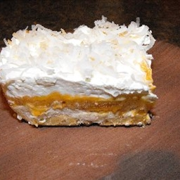 Layered Butterscotch Coconut Cream Dessert