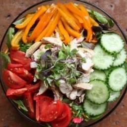 Leafy Green Salad + Light Protien