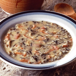 Leeks and Wild Rice Chicken soup