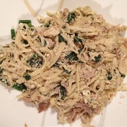 Leftover Turkey or Chicken Alfredo