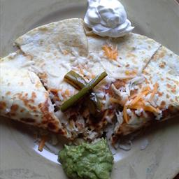 Leftover turkey quesadillas