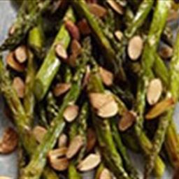 Lemon Roasted Asparagus w/ Almonds