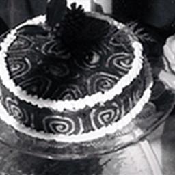 Lundi Gras Chocolate Cake