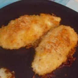 Main - Moist Cheddar Garlic Oven Fried Chicken Breast