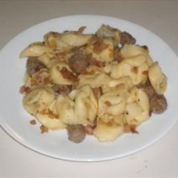 Main - Tortellini with Butter & Sausage