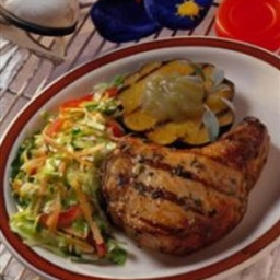 Maple-Pepper Chops with Sizzling Applesauce